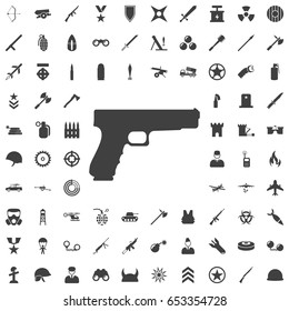 Pistol Gun Icon Vector Illustration. Set of weapon icons