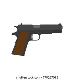 Pistol icon, vector illustration design. War collection.