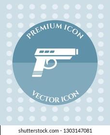 Pistol Icon for Web. Application, Software & Graphic Design.