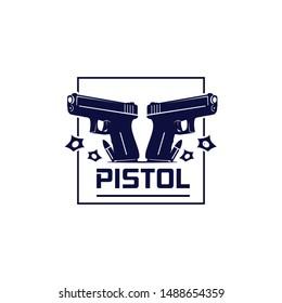 pistol logo vector concept vintage