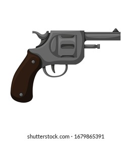 Pistol of revolver vector icon.Cartoon vector icon isolated on white background pistol of revolver.