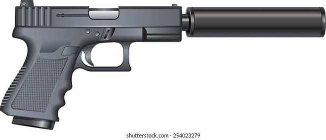 gun silencer images stock photos amp vectors shutterstock