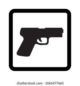 Pistol vector icon.