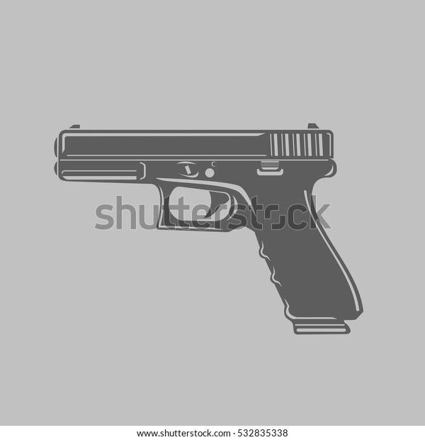 pistol vector illustration black transparent handgun stock vector royalty free 532835338 https www shutterstock com image vector pistol vector illustration black transparent handgun 532835338