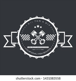 Piston Logo And Emblem Simple Art