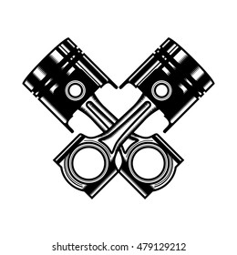 Pistons and rods icon. simple thin line icon on white background. Vector illustration.