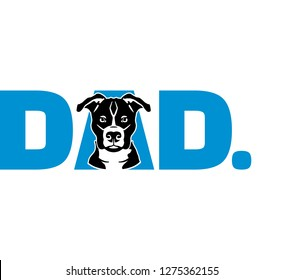 Pit Bull Terrier best dad ever slogan