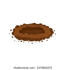 pit in the ground. hole in the ground. vector illustration isolated on white background