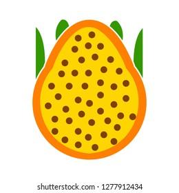pitaya icon - pitaya isolated , summer fruit illustration - Vector fruit