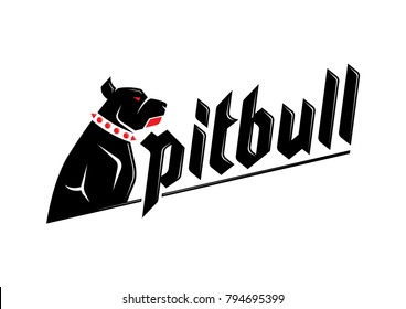 Pitbull dog logo