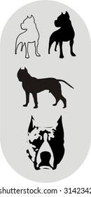 pitbull silhouettes