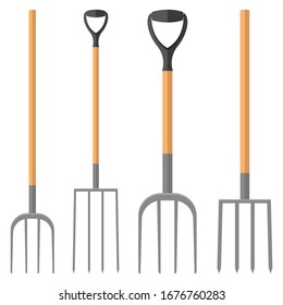 Pitchfork vector design illustration isolated on white background