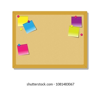 Pith board for notes with color stickers.