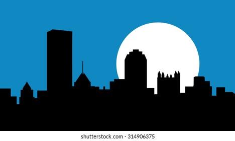 Pittsburgh Pennsylvania at Night at Night