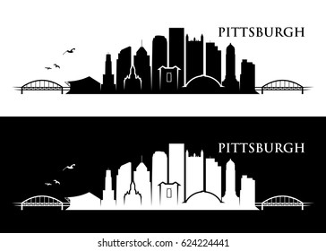 Pittsburgh skyline - Pennsylvania - vector illustration