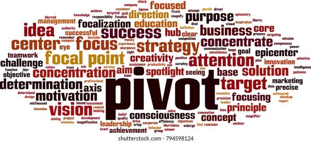 Pivot word cloud concept. Vector illustration