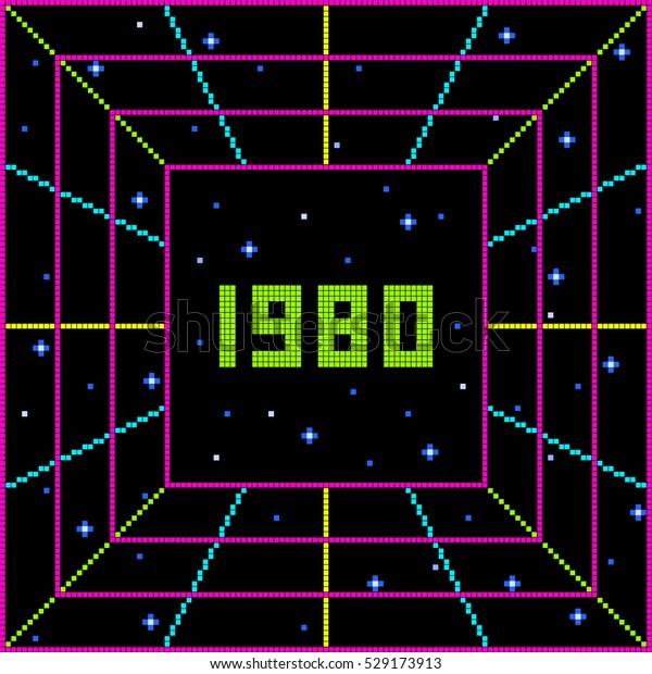 Pixel 1980 Retro Message