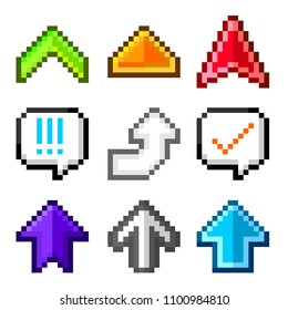 Pixel Arrow Images Stock Photos Vectors Shutterstock 880 x 895 jpeg 95 кб. https www shutterstock com image vector pixel arrow collection 1100984810