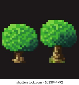 Pixel Art 2D Tree - 8Bit Mobile Game Graphics Assets
