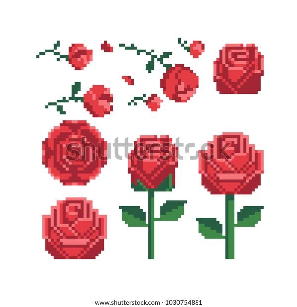 Image Vectorielle De Stock De Pixel Art Des Années 80 De