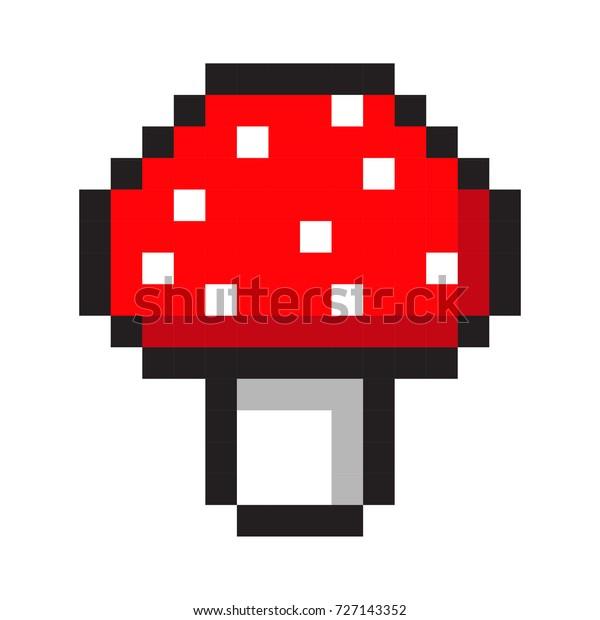 Image Vectorielle De Stock De Pixel Art Amanita Champignon