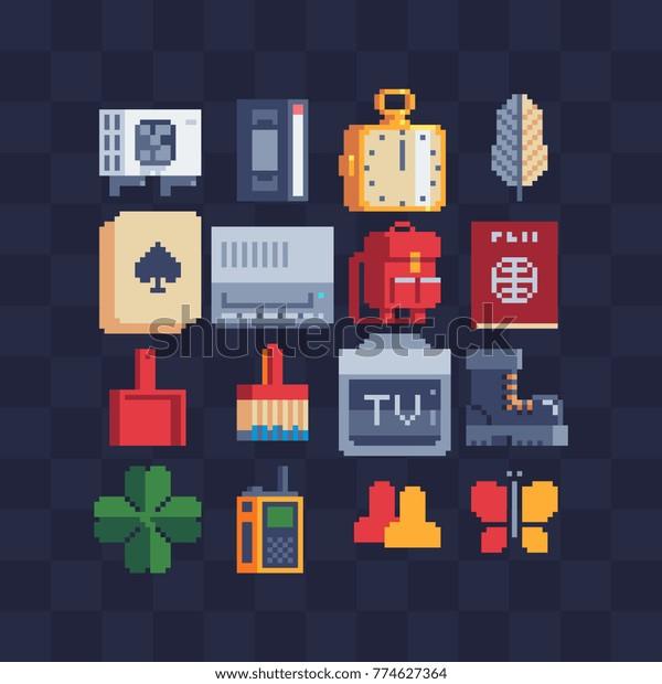 "Pixel Art Application Icons Set Retro Á®ãƒ™ã'¯ã'¿ãƒ¼ç""»åƒç´æ íイヤリティフリー 774627364"
