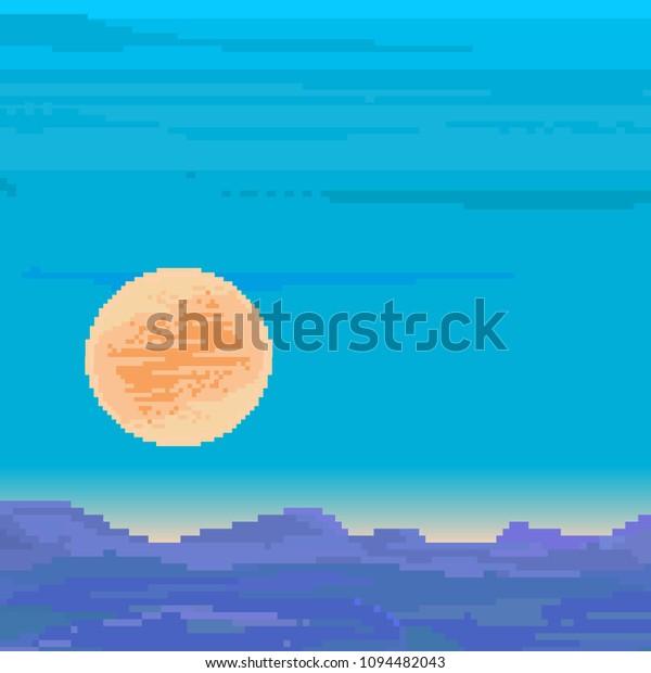 Image Vectorielle De Stock De Pixel Art Background Retro