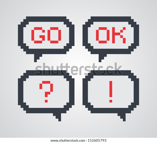 Pixel Art Chat Bubble Stock Vector Royalty Free 152605793