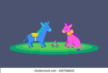 Pixel Art Couple Images Stock Photos Vectors Shutterstock
