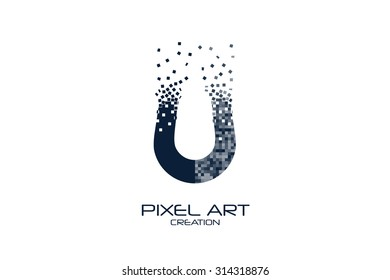 Pixel art design of the magnet logo.