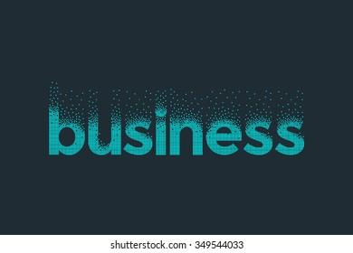 Pixel art design of the word business