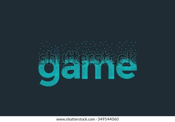 Pixel Art Design Word Game Stock Vector (Royalty Free) 349544060