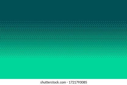 Pixel art dithering seamless background. Aquamarine halftone. Vector illustration.