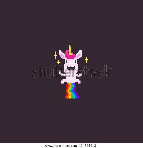 Image Vectorielle De Stock De Pixel Art Volant Une Joyeuse