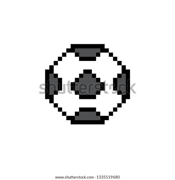 Pixel Art Football Royalty Free Stock Image