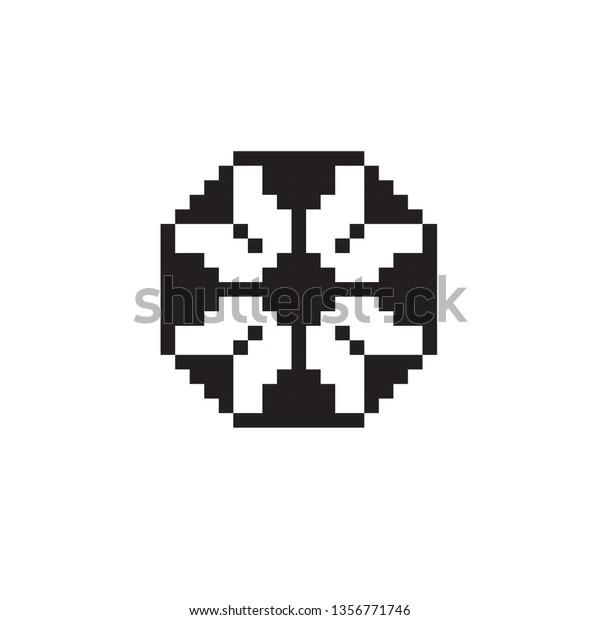 Pixel Art Football Stock Vector Royalty Free 1356771746