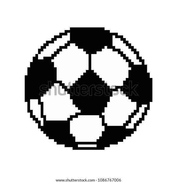 Image Vectorielle De Stock De Pixel Art Football Ball Vector