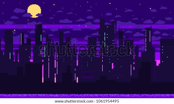 Image Vectorielle De Stock De Arrière Plan Jeu De Pixels