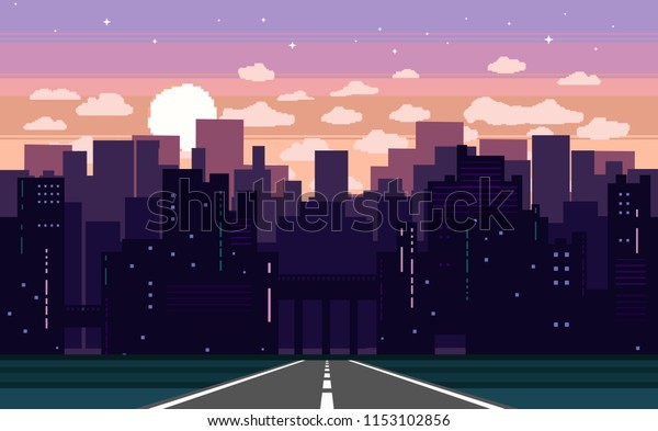 Pixel Art Game Background Road Ground Stock Vector (Royalty ...