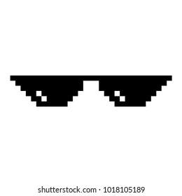 3731aa669ad3 Creative Vector Illustration Pixel Glasses Thug Stock Vector ...