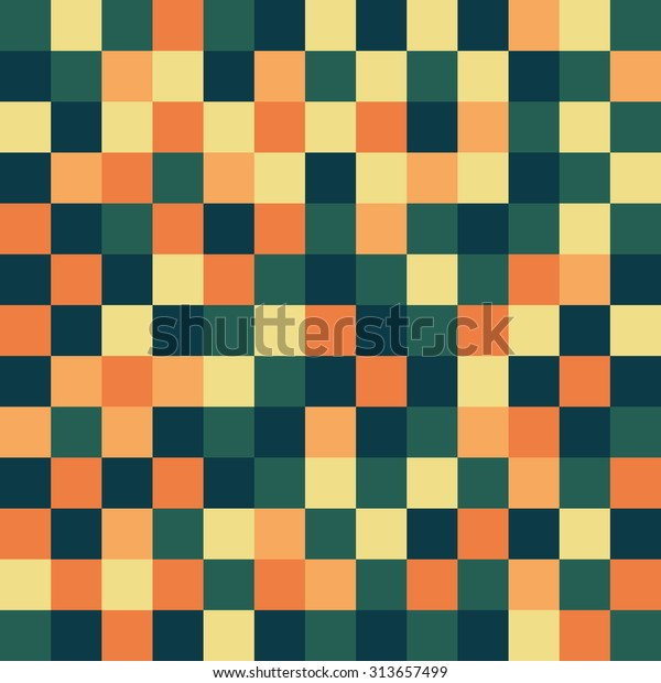 Pixel Art Grid Pattern Background Stock Vector Royalty Free