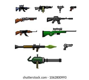 Pixel Art Gun Set