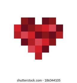 Pixel Art Heart Icon