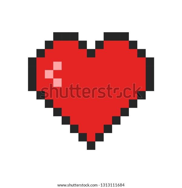 Image Vectorielle De Stock De Icône Coeur Dart Pixel