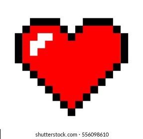 pixel art heart. love and valentine