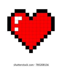 pixel art heart. love and valentine