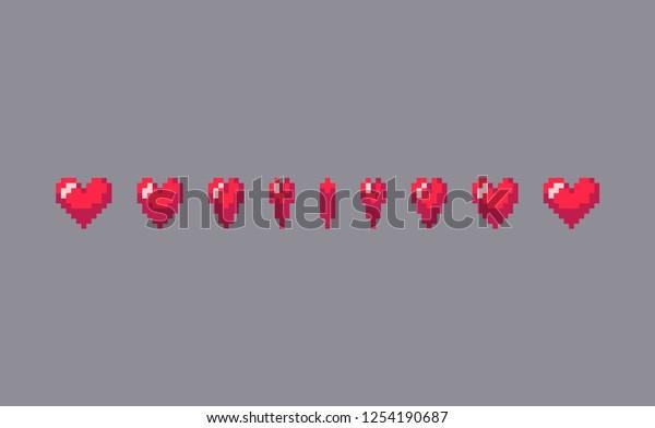Image Vectorielle De Stock De Animation Par Coeur Dart