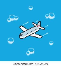 pixel art plane