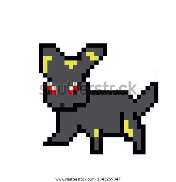 Pixel Art Pokemon Stock Vector Royalty Free 1343259347