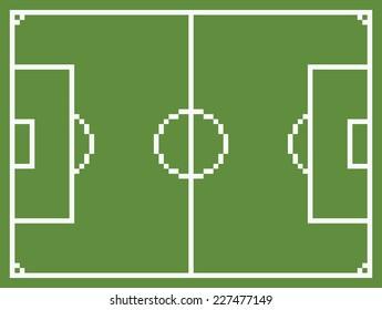 Pixel Football Images Stock Photos Vectors Shutterstock